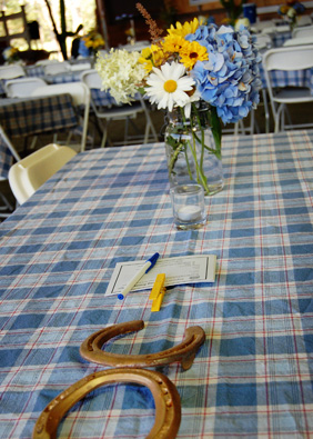 table setting at an event